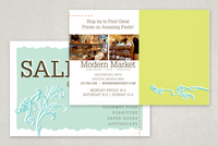 Modern Market Antique Shop Postcard Template