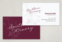 Elegant Winery Business Card Template