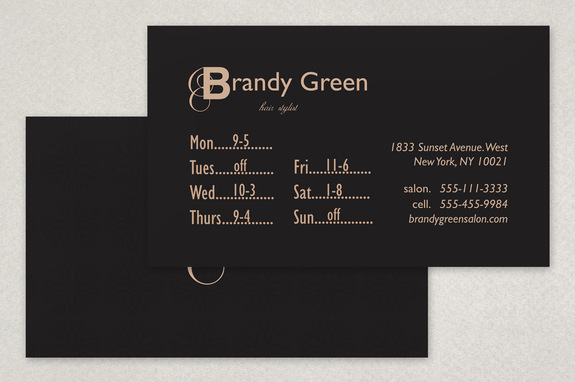Chic hair stylist business card template inkd chic hair stylist business card template fbccfo