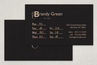 Chic Hair Stylist Business Card Template