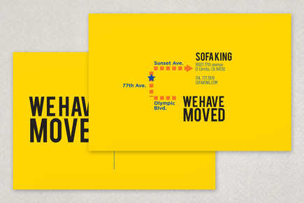 We Have Moved Postcard Template Inkd