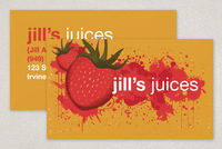 Vibrant Juice Bar Business Card Template