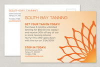 Warm Tanning Promotion Postcard Template