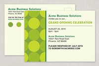 Go Green Business Postcard Template