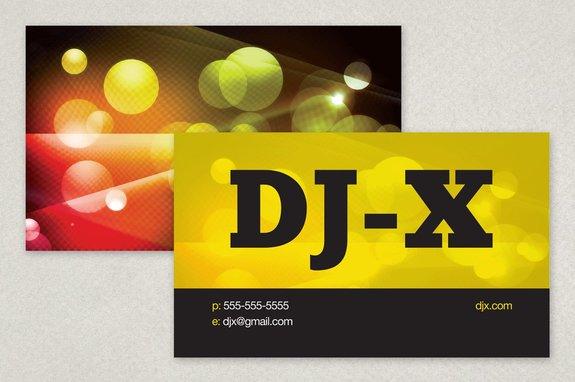 Vibrant Dj Business Card Template Inkd