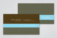 Charming Services Business Card Template