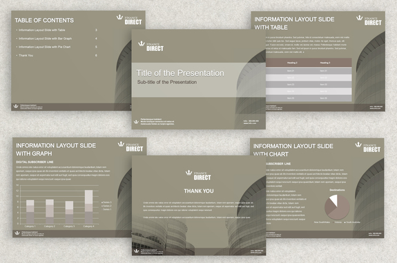 banking finance powerpoint presentation template | inkd, Powerpoint templates