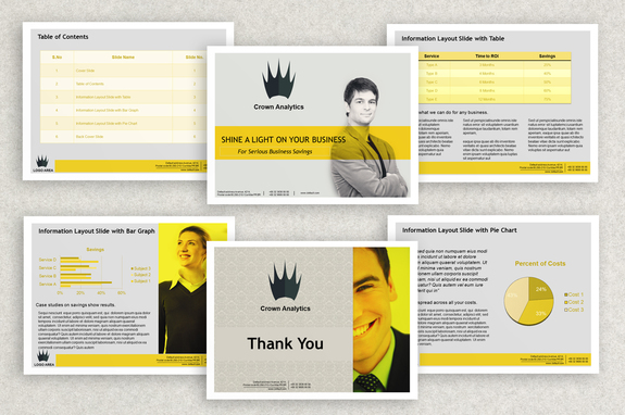 Business Powerpoint Presentation Template  Inkd