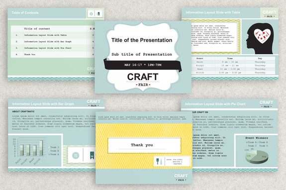 Craft fair powerpoint presentation template inkd craft fair powerpoint presentation template toneelgroepblik Image collections