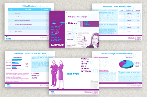 Internet Marketing Powerpoint Presentation Template Inkd