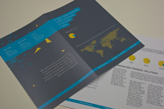 Investment Company Brochure Template Inkd