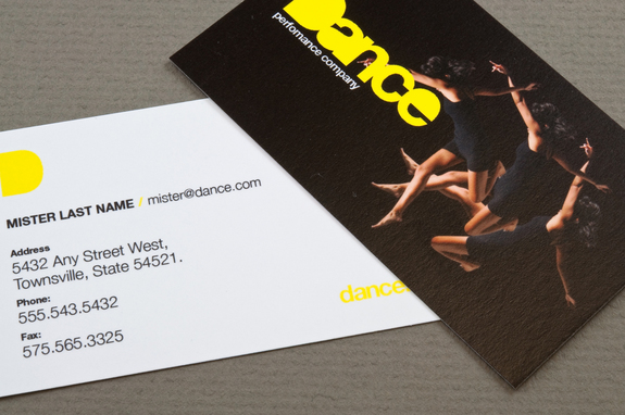 Dance Company Business Card Template Inkd