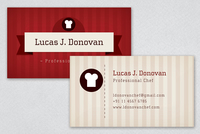 Professional Chef Business Card Template