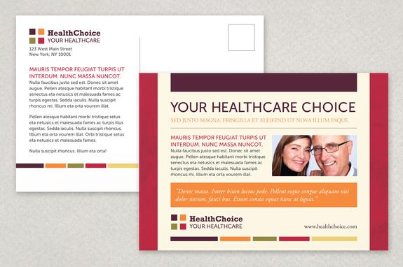 Healthcare Postcard Template Inkd - Large postcard template