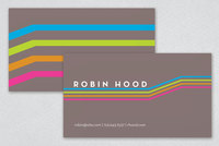 Geometric Neon Business Card Template