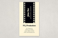 Production and Film Buisness Card Template