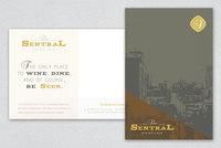 Classic Bistro Postcard Template