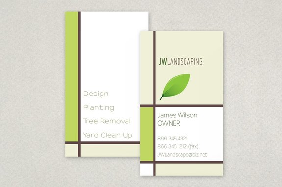 landscape services business card template inkd