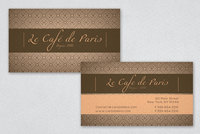 Parisian Cafe Business Card Template