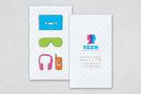 Teen Community Center Business Card Template