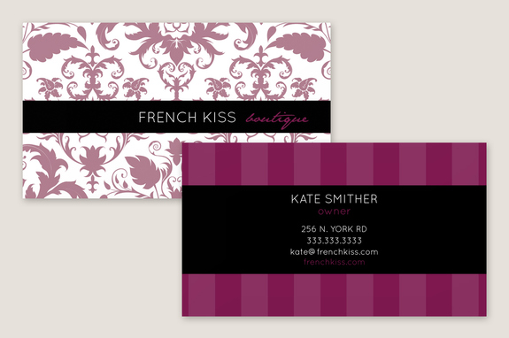 classic boutique business card template - Boutique Business Cards