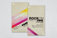 Music & Fashion Magazine Business Card Template