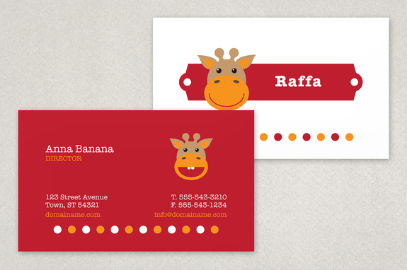 Childcare business card template inkd childcare business card template colourmoves