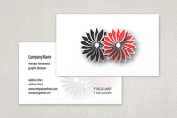 Kimono Flowers Business Card Template