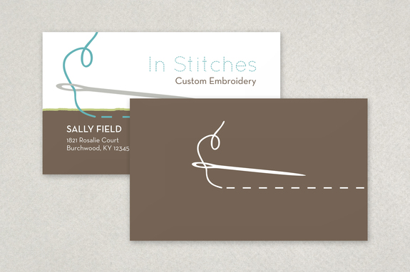 In Stitches Business Card Template Inkd