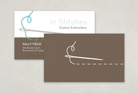 In Stitches Business Card Template