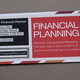 Striped Financial Planner Business Card Template