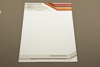 Striped Financial Planner Letterhead Template