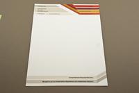 Striped Financial Planner Letterhead Template