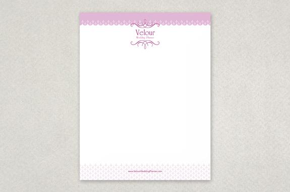 chic wedding planner letterhead template